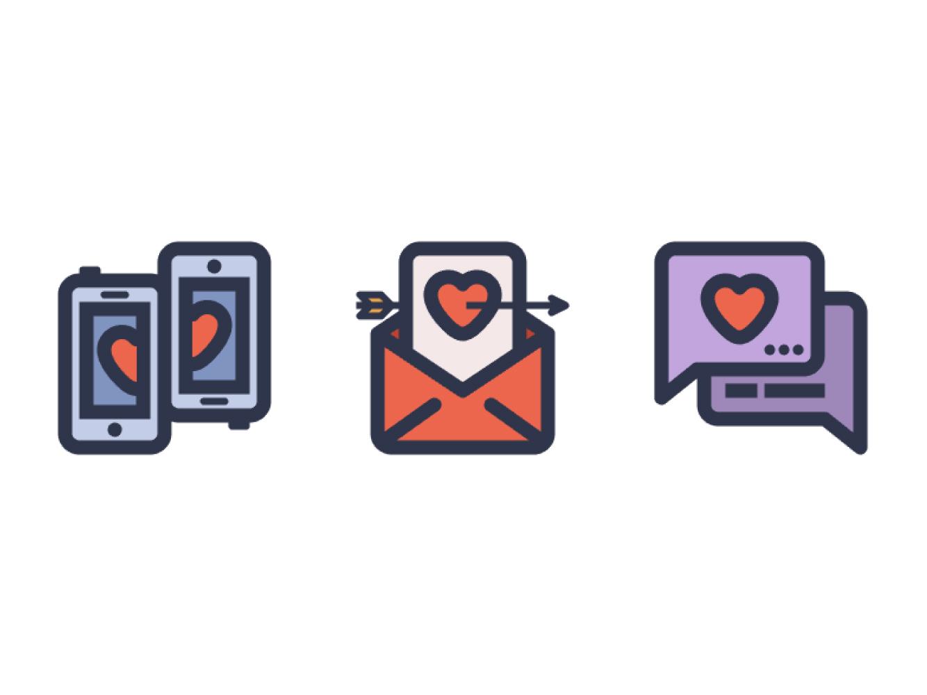 如何在Adobe Illustrator中创建爱情主题图标包