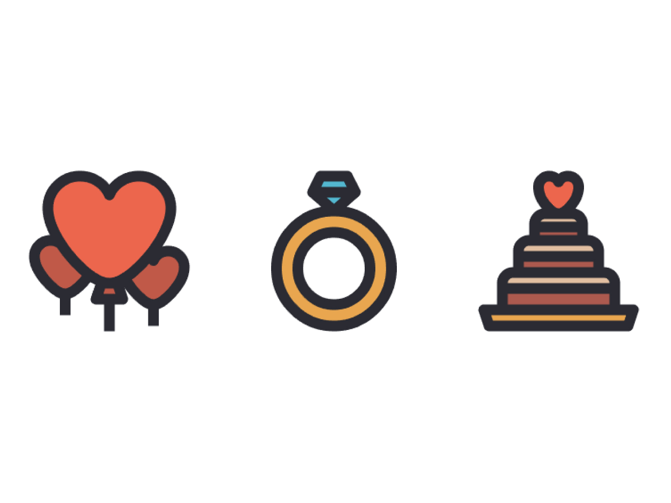 如何在Adobe Illustrator中创绘婚礼主题图标