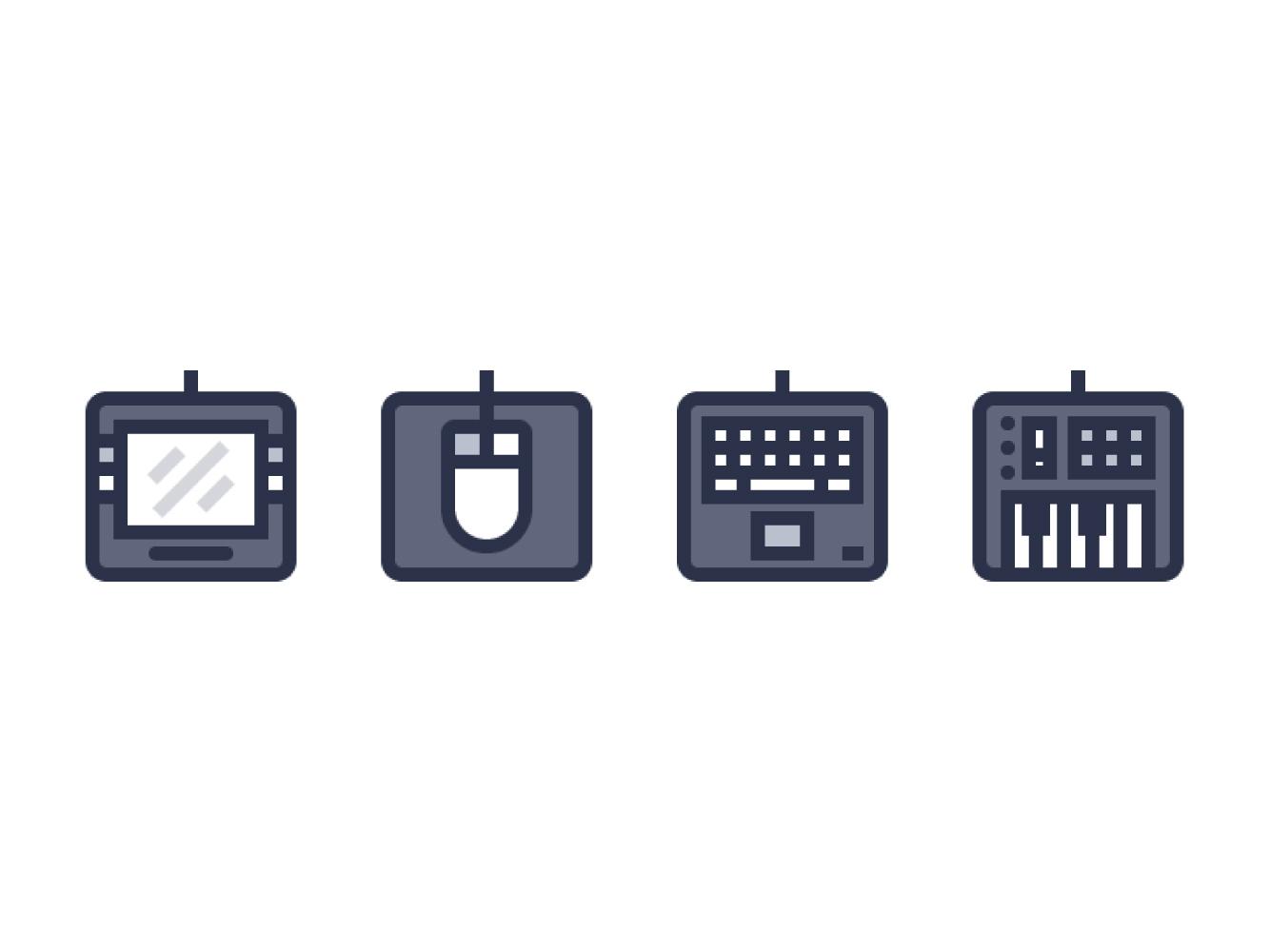 如何在Adobe Illustrator中创建计算机外接设备图标