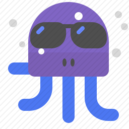带墨镜的水母