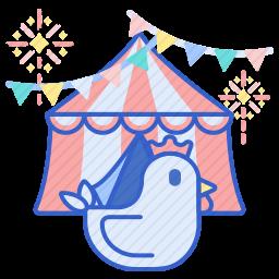 马戏团帐篷图标
