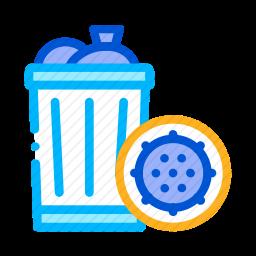 垃圾桶细菌