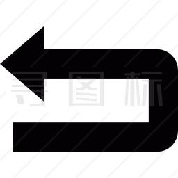撤消箭头图标
