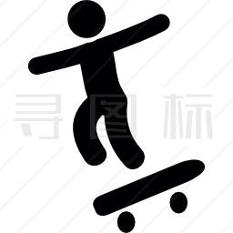 滑板男孩图标