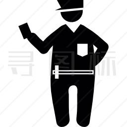 肥胖警察图标