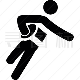 打橄榄球的人图标