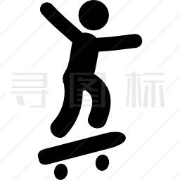滑冰者图标