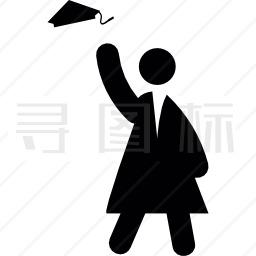 毕业生庆祝活动图标