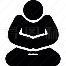 冥想姿势图标