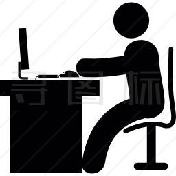 电脑办公桌图标