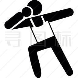铅球投掷运动员图标