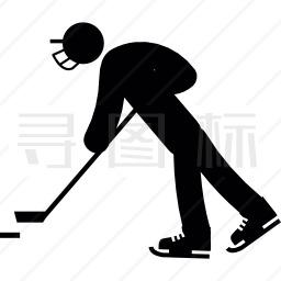 冰球运动员图标