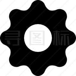 黑色设置按钮图标