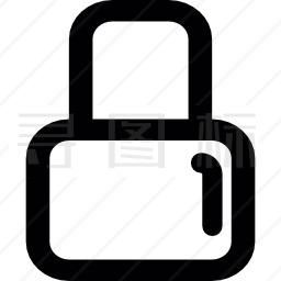 安全锁图标