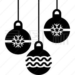 圣诞装饰品图标