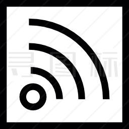 框内的RSS标识图标
