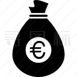 欧元袋图标