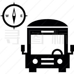 指南针客车图标