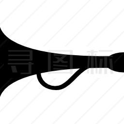 带柄喇叭扬声器图标