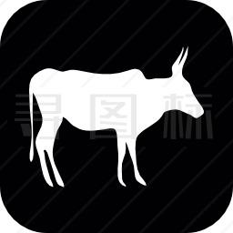 羚羊侧视图图标