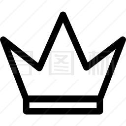 皇冠直线设计图标 有svg Png Eps格式 寻图标