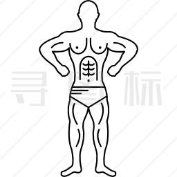 男性剪影变型显示肌肉图标 有svg Png Eps格式 寻图标