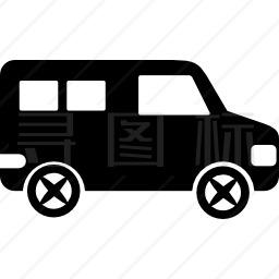 微型客车侧视图图标
