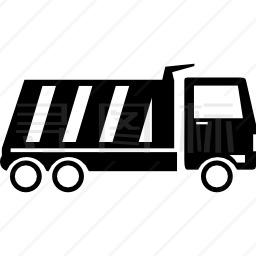 自卸车侧视图图标
