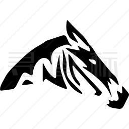 斑马轮廓图标