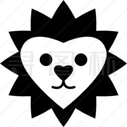 心形狮面图标