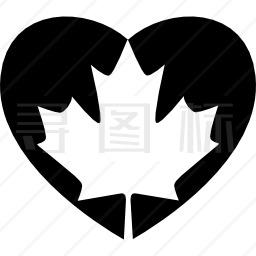 加拿大心旗图标