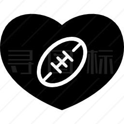 美式足球心图标