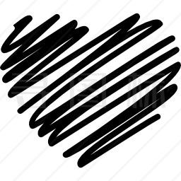 涂鸦心形图标