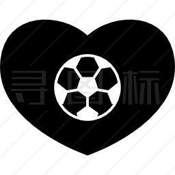 足球心图标