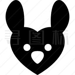 心形兔图标