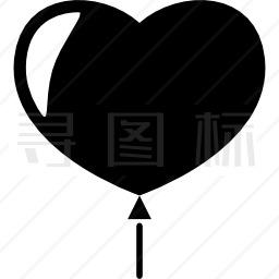 心形气球图标