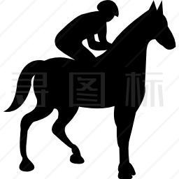骑马黑影的马图标 有svg Png Eps格式 寻图标