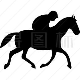 从侧面看赛马黑影跑马图标 有svg Png Eps格式 寻图标
