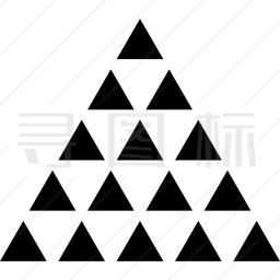 多三角形三角形图标
