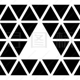 三角形小三角形内图标