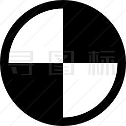 黑白块图标