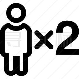 二人符号图标 有svg Png Eps格式 寻图标