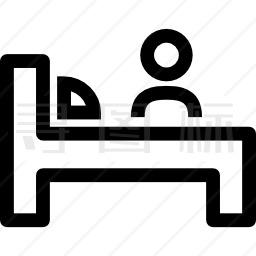 旅行者及酒店床位概述图标