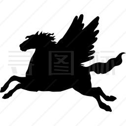 飞马翅膀黑影侧影图标 有svg Png Eps格式 寻图标