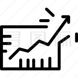 业务增长表图标