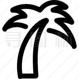 棕榈树轮廓图标