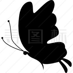 美丽蝴蝶剪影图标
