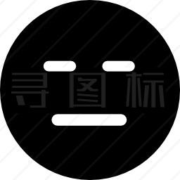 闭眼和直线口表情方块脸图标 有svg Png Eps格式 寻图标