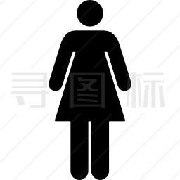 女子站立轮廓黑影图标 有svg Png Eps格式 寻图标
