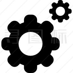 轮齿齿轮接口符号设置按钮图标